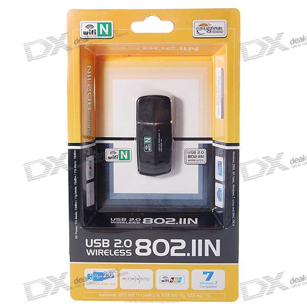 802.11n/b/g 150MBps Wifi/WLAN USB Wireless Network Adapter