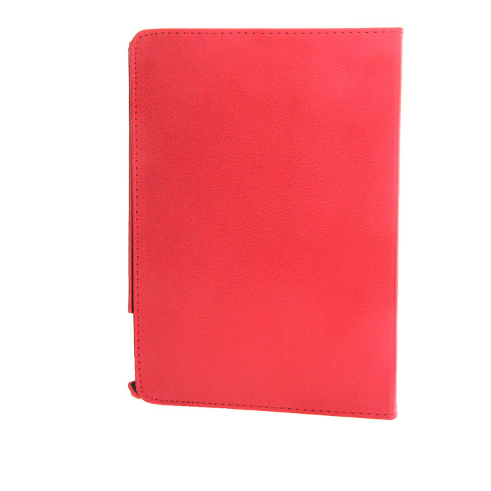 Protective 360 Degree Rotation PU Leather Case w/ Auto Sleep for Ipad AIR - Red + Black protective 360 degree rotation holder pu leather case for samsung p6800 p6810 pink