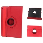 Protective 360 Degree Rotation PU Leather Case w/ Auto Sleep for Ipad AIR - Red + Black