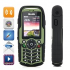 "ZUG1 Ultra-Rugged Waterproof GSM Cellphone w/ 2.0"" Capacitive, GPS, Dual-SIM - Black + Army Green"