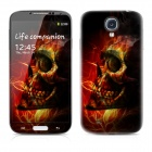 PAG Front Screen + Back Skin Protector Stickers for Samsung Galaxy S4 i9500 - Dark Red + Black