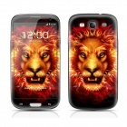 PAG Front Screen + Back Skin Protector Stickers for Samsung Galaxy S3 i9300 - Light Yellow + Red
