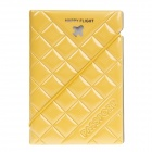 SL-PH001 Plane Pattern PVC Passport Holder -Yellow