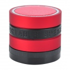 Bluetooth V4.0 Super Bass Portable Speaker w/ TF / FM / Microphone - Black + Red