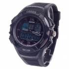 OHSEN AD1301 Men's Sport Analog + Digital Quartz Wrist Watch - Black (1 x CR-2025)