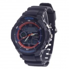 OHSEN AD1136 Men's Sport Analog + Digital Quartz Wrist Watch - Black (1 x CR-2025)