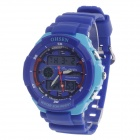 OHSEN AD1136 Men's Sport Analog + Digital Quartz Wrist Watch - Deep Blue + Light Blue (1 x CR-2025)
