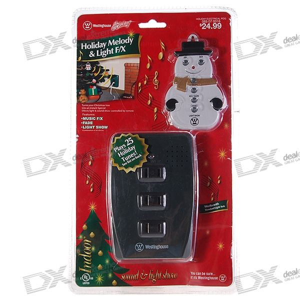3-Way Wall-Mount Holiday Melody & Light F/X Controller ...