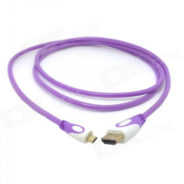CY HD-143 HDMI V1.4 Male to Micro HDMI Male Adapter Cable for Phone / Tablet PC - Pinkish Purple