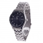 Haibo 6360 Fashionable Men's Automatic Wristwatch w/ Simple Calendar - Silver + Black