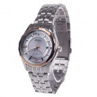 Haibo 6360 Fashionable Men's Automatic Wrist Watch w/ Simple Calendar - Silver + Rose Gold