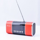 "SANSUI D11 2.0"" Screen Bass Media Player Speaker w/ FM / Music Alarm Clock / TF - Red+ Black"