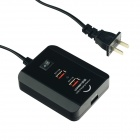 UGREEN 20338 3-Port US Plug USB Digital Power Charger Station - Black (110~220V / 150cm-Cable)