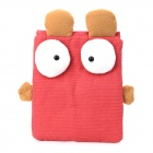 Hotsion A09 Cute Rabbit Style Canvas Protective Case for Ipad 2 / the New Ipad / Ipad 4 - Light Red