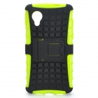 2-in-1 Detachable TPU + PU Back Case w/ Stand for LG Nexus 5 - Black + Green