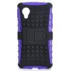2-in-1 Detachable TPU + PC Back Case w/ Stand for LG Nexus 5 - Black + Purple