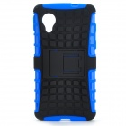 2-in-1 Detachable TPU + PU Back Case w/ Stand for LG Nexus 5 - Black + Blue