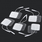 5 x 5cm Acupuncture Slimming Digital Therapy Machine Massage Electrode Pads - White + Black (10 PCS)