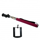 BZ 360 Degree Rotation Stainless Steel Handheld Monopod for GoPro3+ / Digital Camera / Phone - Pink