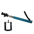 BZ 360 Degree Rotation Stainless Steel Handheld Monopod for GoPro3+ / Digital Camera / Phone - Blue