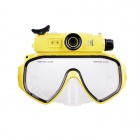 e-J FK-909 5.0 MP HD 720P Diving Mask Camera - Black + Yellow