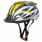 KUYOU KY-015 Bicycle 27-Vent Helmet - Yellow + White
