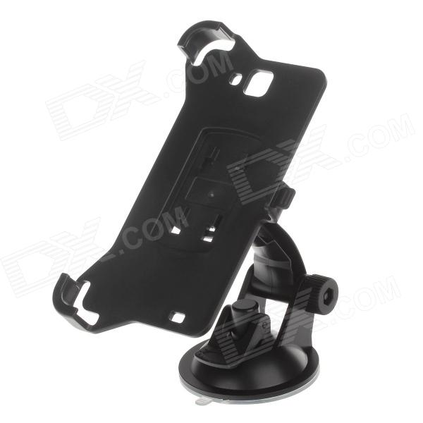 360 Degree Rotation Holder Mount w/ H01 Suction Cup for Samsung Galaxy Note i9220 - Black 360 degree rotational car mount holder w suction cup for samsung galaxy note 3 n9000 n9002