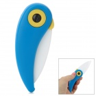 POTENT PK3-W02 Bird Style Zircon + ABS Folding Ceramic Fruit Knife - White + Blue + Multicolored