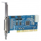 IOCREST IO-PCI1053-2S1P 2-Port Serial + 1-Port Parallel PCI Card w/ 16C1053 Chip - Deep Blue