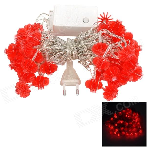 Lantern Style R-50 12W 325lm 50-LED 5-Mode Red Light String - White + Red (EU Plug)