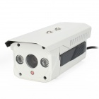 HS-918IP Waterproof 8mm H.264 1.3 MP CMOS Network IP Camera w/ 2-IR LED - White