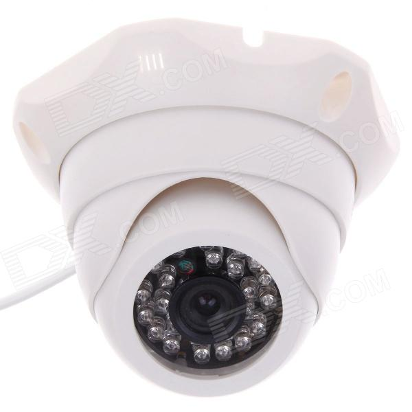Weipus WPS-GL3060H 3.6mm 1/4 CMOS 800TVL Surveillance IR Dome Camera w/ 24-IR LED - White weipus wps gl3060h 3 6mm 1 4 cmos 800tvl surveillance ir dome camera w 24 ir led white