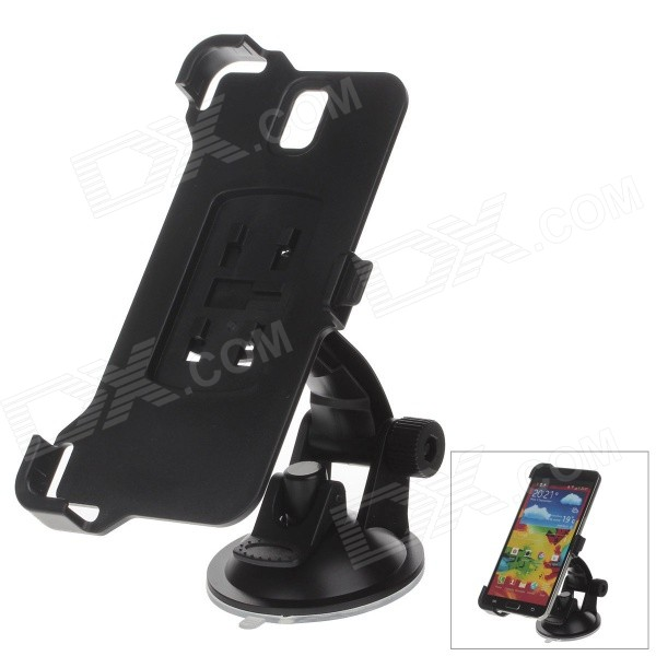 360 Degree Rotation Holder Mount w/ H01 Suction Cup for Samsung Galaxy Note 3 N9006 - Black 360 degree rotational car mount holder w suction cup for samsung galaxy note 3 n9000 n9002