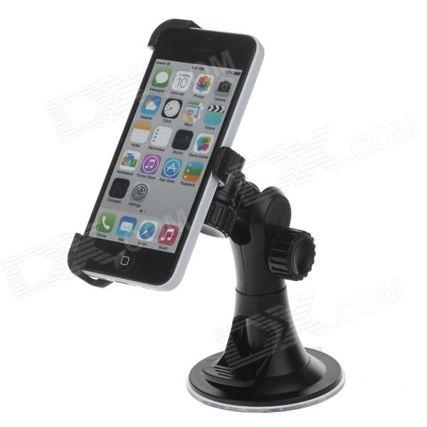 180 Degree Rotation Holder Mount w/ H08 Suction Cup for Iphone 5C - Black universal car suction cup mount bracket holder stand for samsung galaxy note 3 more black