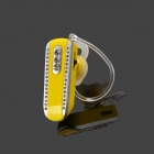 SAENKDEA 518 Stylish Rhinestone-Studded Bluetooth V3. 0 + EDR Music Headset - Yellow + Silver
