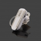 SAENKDEA 518 Stylish Rhinestone-studded Bluetooth V3. 0 + EDR Music Headset - White + Silver