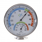TH101 2-In-One Wall Mount / Desktop Thermometer / Hygrometer - White + Silver