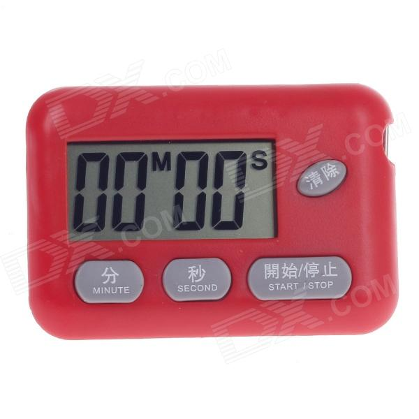 "BK-727 1,7"" LCD cucina timer digitale - rosso (1 x AG3)"