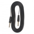 3.5mm Male to 3.5mm Male Audio Flat Cable - Black (2m)