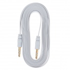 3.5mm TRS Male to 3.5mm Male Audio Flat Cable - White (2m)
