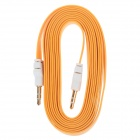 3.5mm TRS Male to 3.5mm Male Audio Flat Cable - Orange + White (2m)