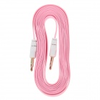 3.5mm TRS Male to 3.5mm Male Audio Flat Cable - Pink + White (2m)