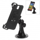 180 Degree Rotation Holder Mount w/ H08 Suction Cup for Samsung Galaxy Note 3 N9006 - Black