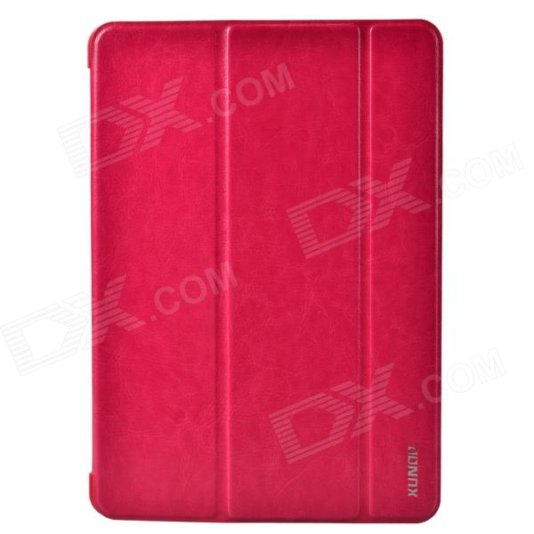 XUNDD Stylish Ultrathin 3-Fold Protective PU Leather Case Cover Stand for Ipad AIR - Deep Pink cute faerie pattern protective pu leather case cover stand for ipad air pink