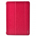 XUNDD Stylish Ultrathin 3-Fold Protective PU Leather Case Cover Stand for Ipad AIR - Deep Pink