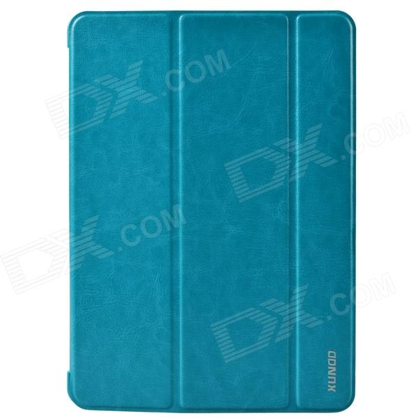 все цены на  XUNDD Stylish Ultrathin 3-Fold Protective PU Leather Case Cover Stand for Ipad AIR - Light Blue  онлайн