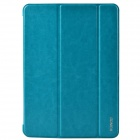 XUNDD Stylish Ultrathin 3-Fold Protective PU Leather Case Cover Stand for Ipad AIR - Light Blue