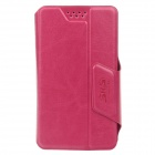 SHS Stylish Adjustable Protective PU Leather Case for Iphone 4S / 5 /5c / 5s - Deep Pink (Size-S)