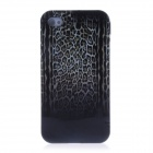 Leopard Pattern Protective TPU Back Case for Iphone 4 / 4s - Black + Brown