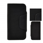 Angibabe ATHENA-1 Detachable Protective PU Leather Case Cover w/ Card Slot for Iphone 5 / 5s - Black